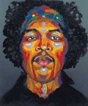 Jimi Hendirx Solid Color by Grace Slick