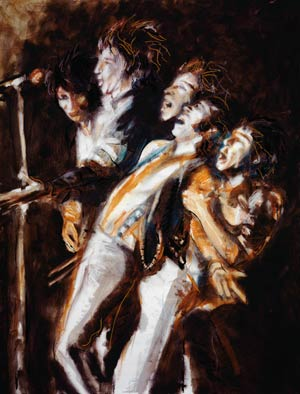 Faces, We'll Meet again painted by Ronnie Wood