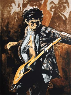 Keith Richards by fellow Rolling Stone Ronnie Wood