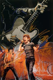 Mick Jagger painted by Ronnie Wood in Weaving