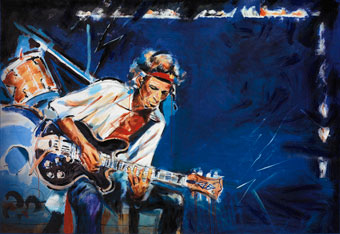 Pesive, a print of Keith Richards by Ronnie Wod