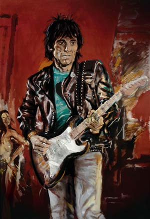 Wa Wa Wood painted by Ronnie Wood