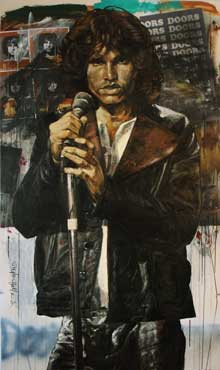 Jim Morrison painted by Stephen Holland
