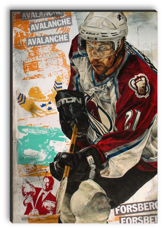Peter Forsberg painted by Stephen Holland