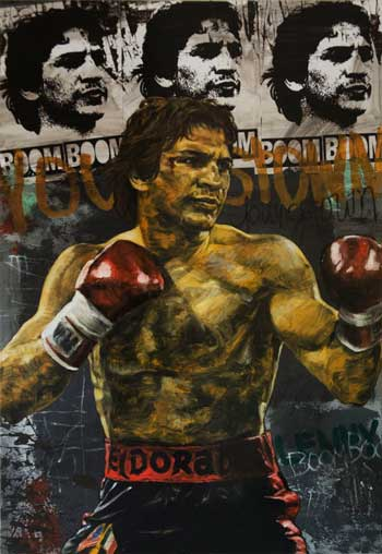 Boom Boom Mancini painted by Stephen Holland
