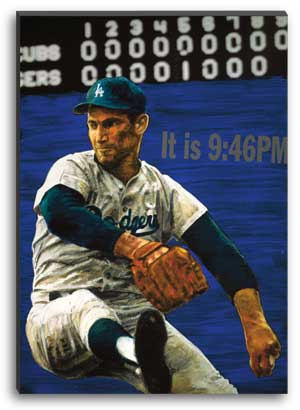 Sandy Koufax Perfect Game by Stephen Holland