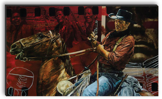 John Wayne Comanche Tracker painting by Stephen Holland