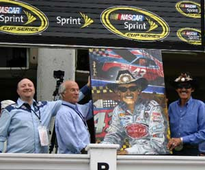 Richard Petty Painting at Nascar