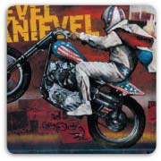 Evel Knievel on Motorcycle