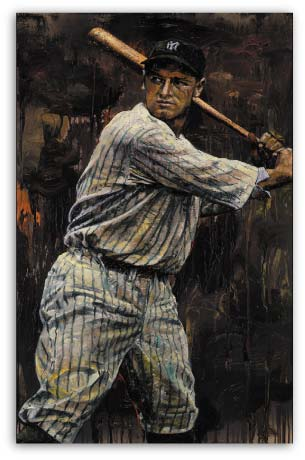 Lou Gehrig Baseball by Stephen Holland