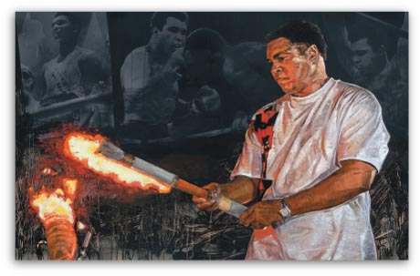 Muhammad Ali With Olympic Torch by Stephen Holland
