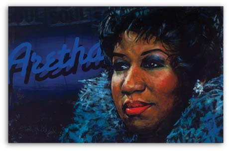 Aretha Franklin by Stephen Holland