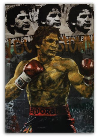 Ray Boom Boom Mancini a limited edtion print by Stephen Holland