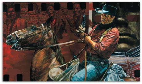 Comanche Tracker, a portrait of John Wayne by Stephen Holland