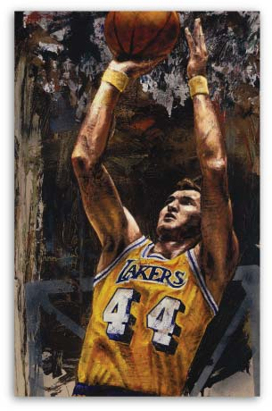 Jerry West Laker by Stephen Holland