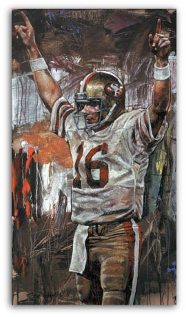 Joe Montana Superbowl XVI by Stephen Holland