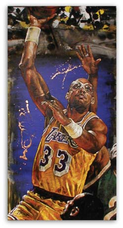 Kareem Abdul Jabar Lakers by Stephen Holland