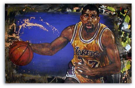Magic Johnson by Stephen Holland