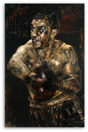 Rocky Marciano boxer, by stephen holland