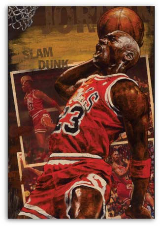 Michael Jordan Slam Dunk by Stephen Holland