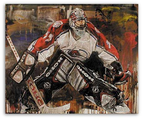 Patrick Roy Hockey by Stephen Holland
