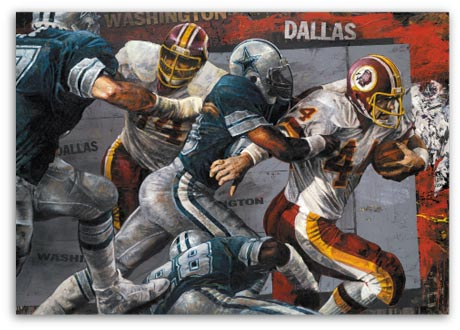 Rivalry, John Riggins by Stephen Holland