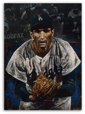 Sandy Koufax The Stare by Stephen Holland