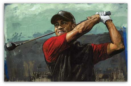 Tiger Woods Tee - Off by Stephen Holland