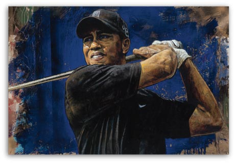 Tiger Woods Blue Hawaii by Stephen Holland