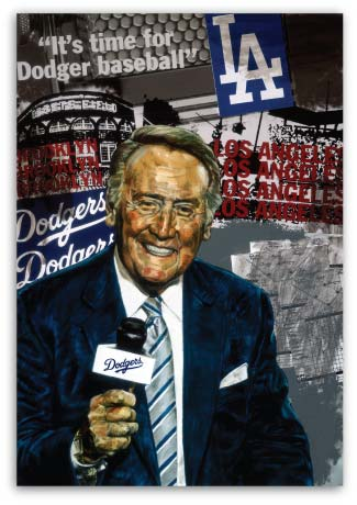 Vin Scully by Stephen Holland