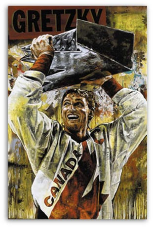 Wayne Gretzky Canada Cup by Stephen Holland