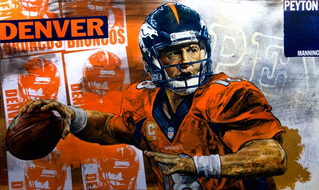 Payton Manning by Stephen Holland