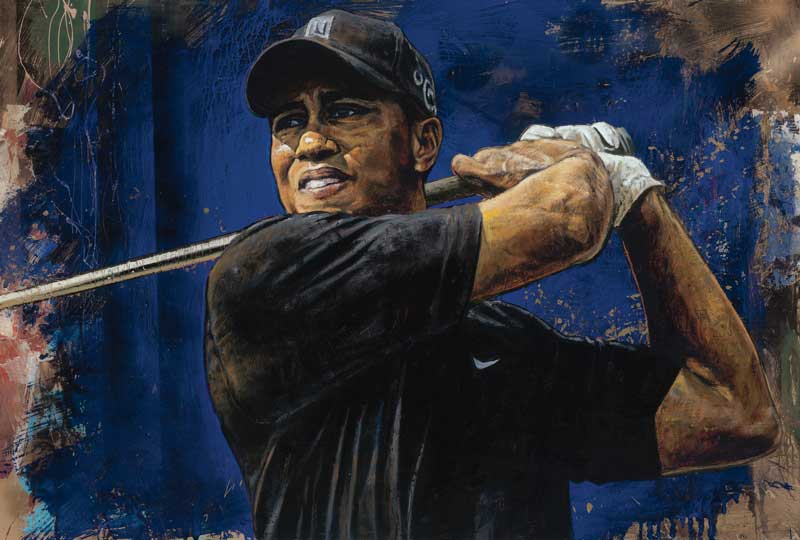 Tiger Wood's blue Hawaii by Stephen Holland