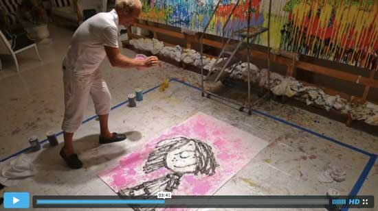 Tom Everhart in studio interview about painting Homie Dreams