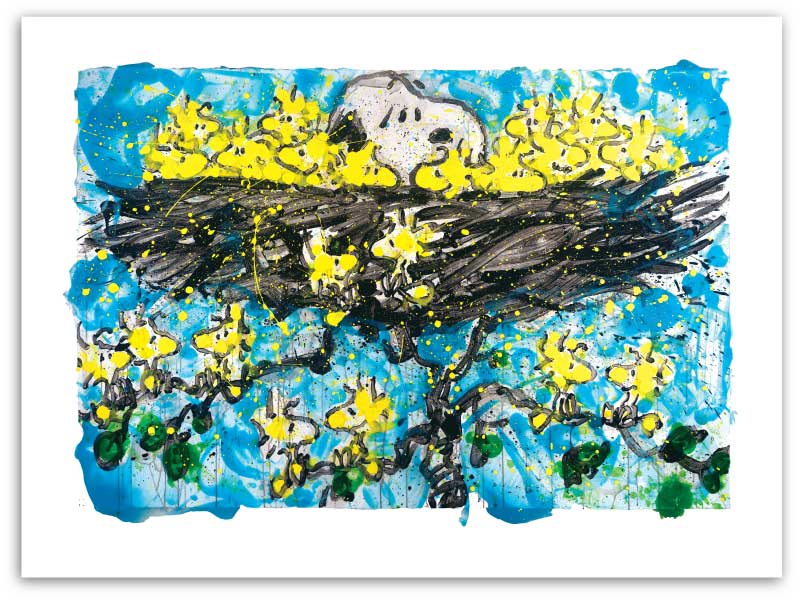 I've Got Ants In My Pants by Tom Everhart. Snoopy on his back, Kicking lets up, on dance floor with lights.