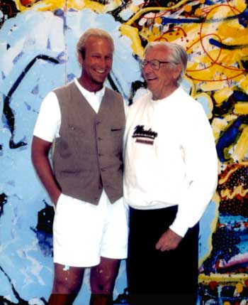 Charles Schulz and Tom Everhart