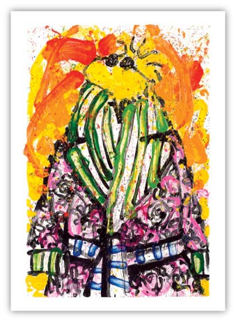 Shorty (Woodstock) Wearing Jim Dine by Tom Everhart