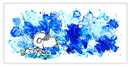 Tom Everhart's Partly Cloudy 7:15 Morning Fly - Snoopy Flying Ace in Sky