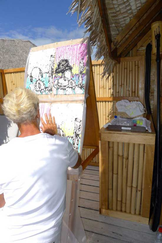tom everhart painting starry starry light