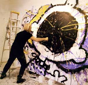 Tom Everhart painting Charlie Brown